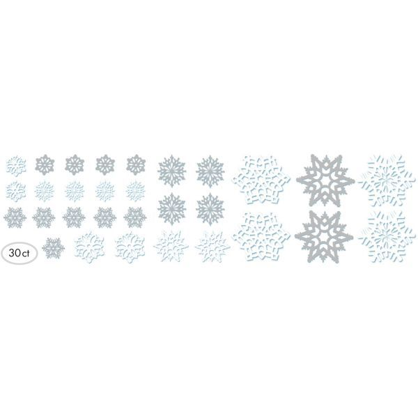 Snowflake Cutouts Offer An Assortment Of Silvery Grey And White Cardboard Snowflakes Use These Cardstock Decorations For Christmas Or A Holiday