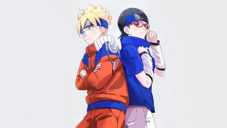 Sarada Uchiha And Boruto Wallpaper Boruto And Sarada Anime Naruto