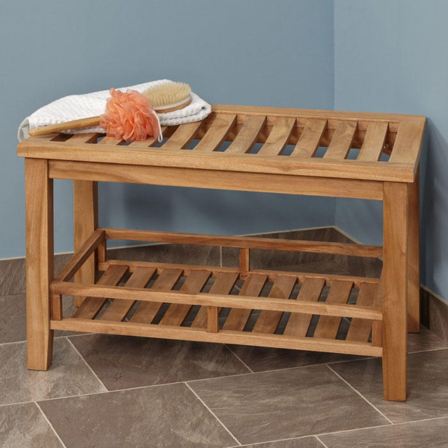 Large Teak Rectangular - ADA Compliant - Shower Stool | Teak, Stools ...