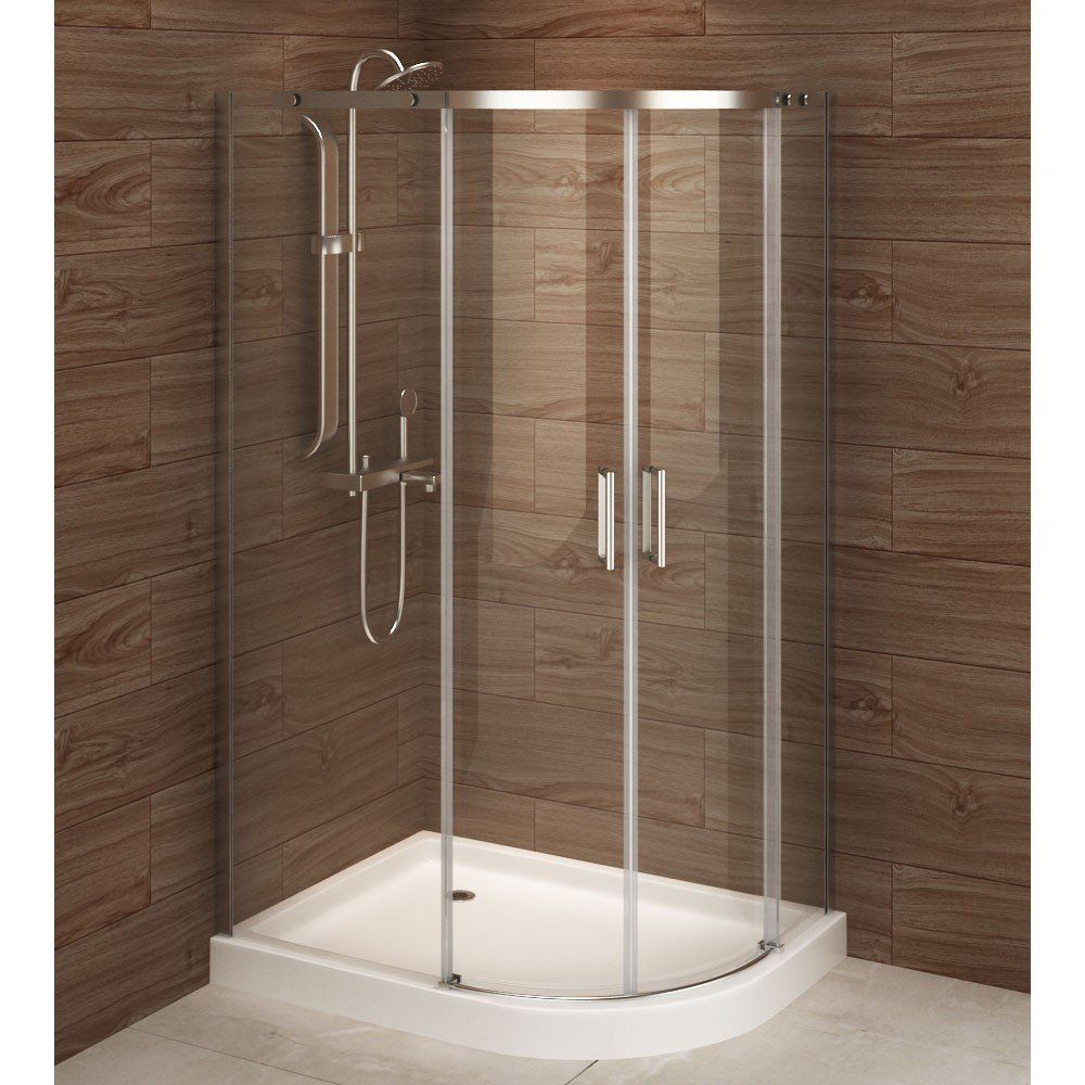 A E Bath And Shower Madrid 48 X 36 Asymmetric Corner Shower Stall