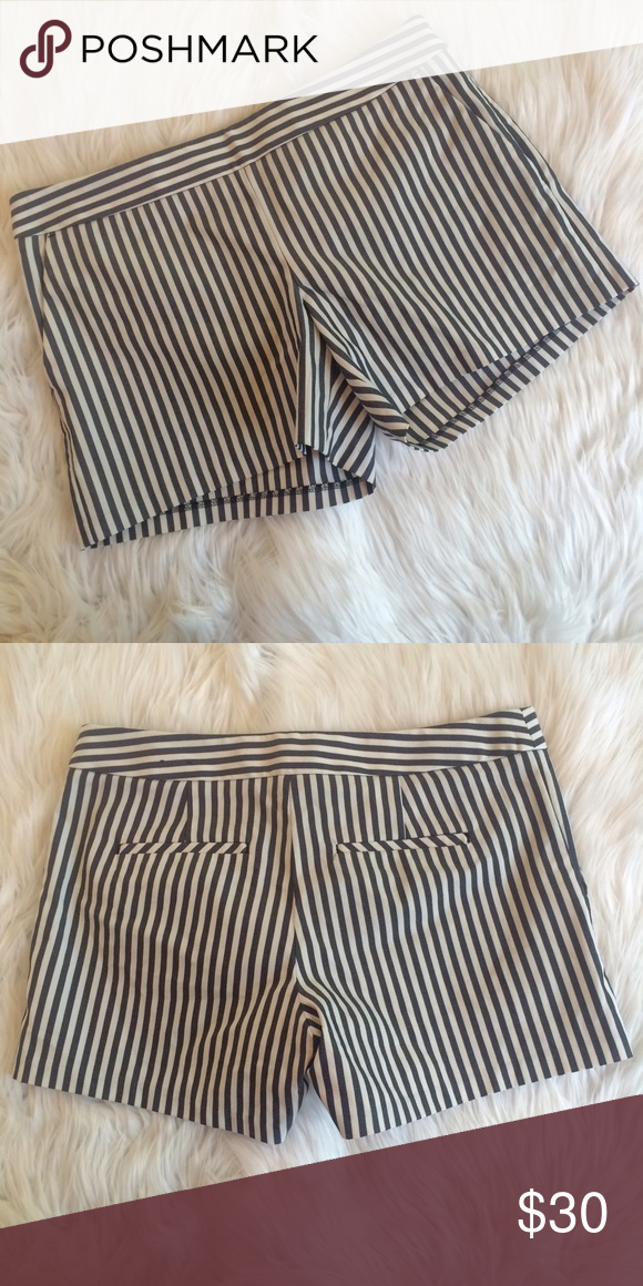 """💜💜 STRIPED SHORTS NWOT. 16"""" waist 11.75"""" length 4"""" inseam. 71% cotton 25% polyester 4% elastane.   **bundles save 10%** no trades/no modeling/no asking for lowest Express Shorts"""
