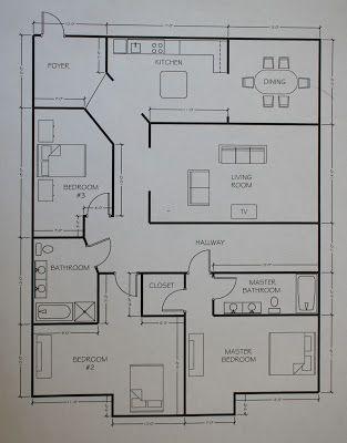 floor plan using geometry terms
