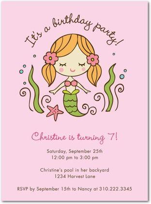 Birthday party invitations sweet mermaid front daiquiri esmee birthday party invitations sweet mermaid front daiquiri tiny printsmermaid filmwisefo