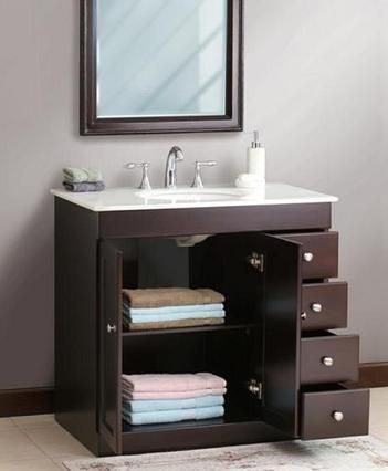 Small Bathroom Solutions Storage Smart Bathroom Vanities - Bathroom vanities 36 inches wide for bathroom decor ideas