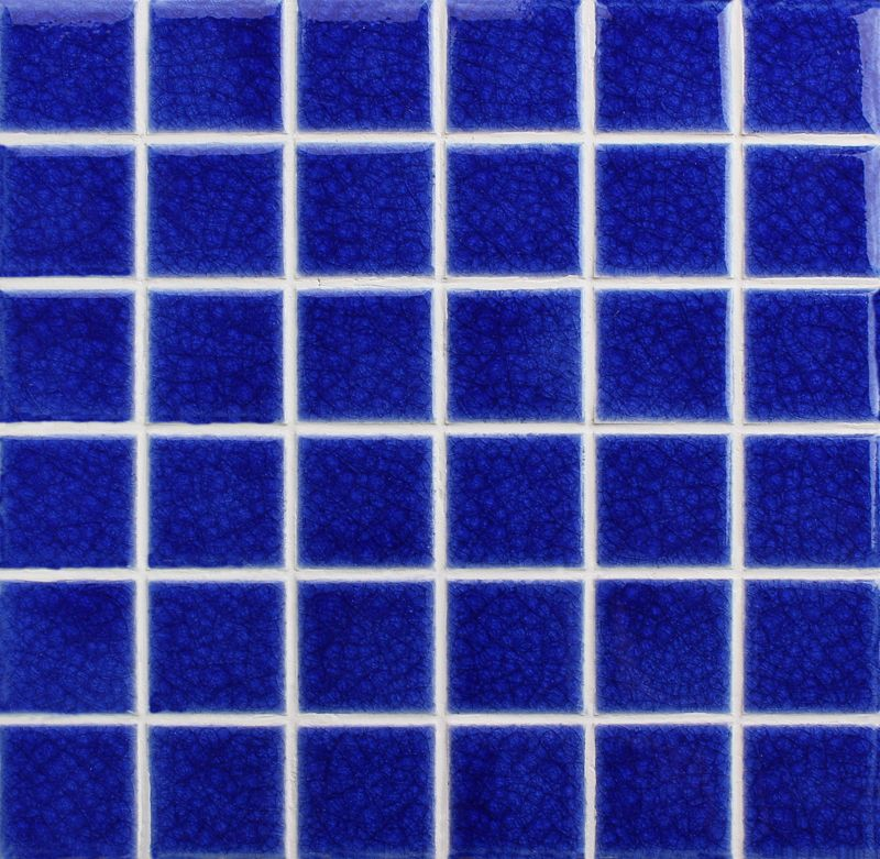 Dark Blue Is The Soul Color Of Swimming Pool Tile The Heavy Crackle Mosaic Tile Is Ideal For Cozy Pool Surround Area Cove Pool Tile Mosaic Pool Tiles For Sale