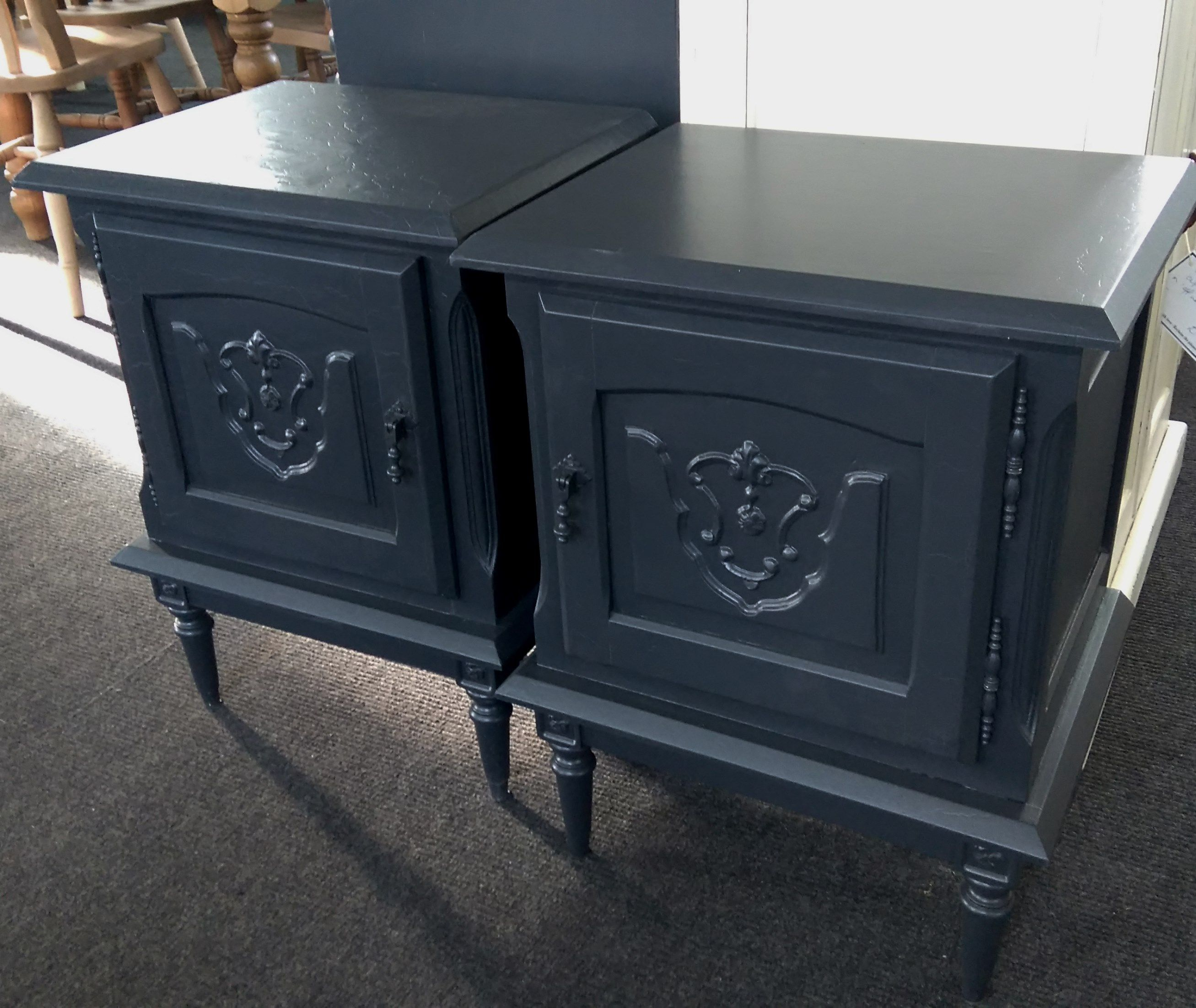 Pretty French style bedside now painted in