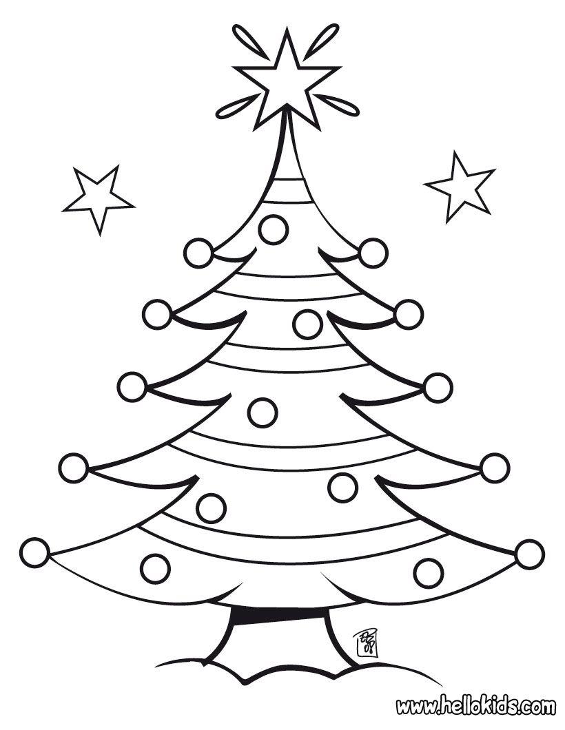 Christmas Tree Coloring Page Kerstmis Kleuren Gratis