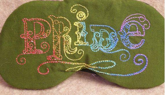Embroidered Eye Mask Pride Eye Mask Eye Mask by MadeByMeEmbroidery