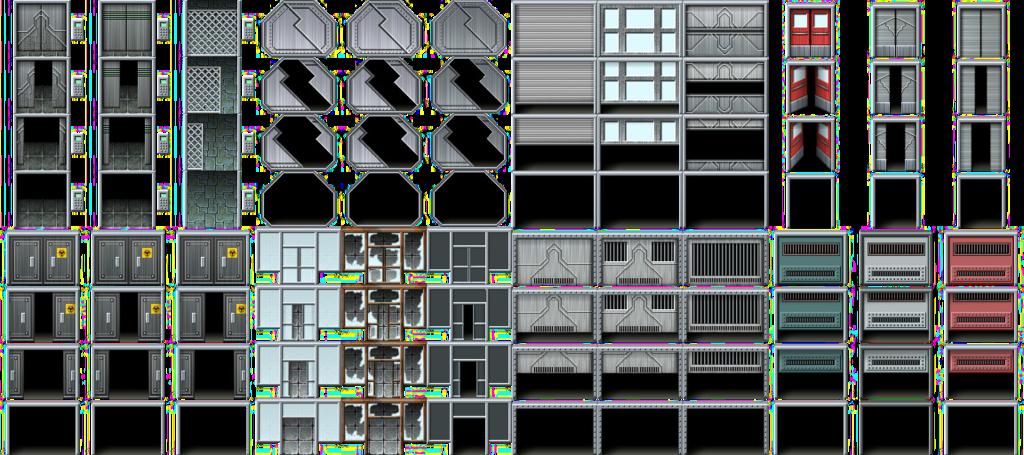 Scifi platform game tile background spritesheet | Rpg Maker