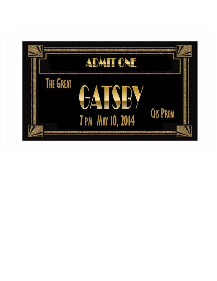 Gatsby prom ticket SPARKLE TICKET SAMPLE This is a quick cut and - prom ticket template