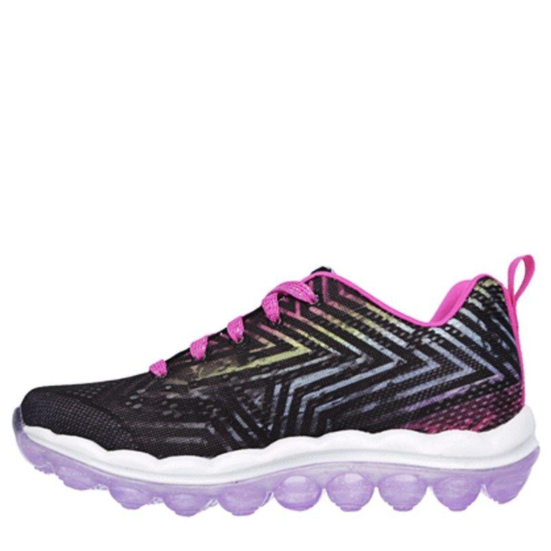 Skechers Kids' Skech Air Jumparound Sneaker Pre/Grade School Shoes (Black/ Multi)