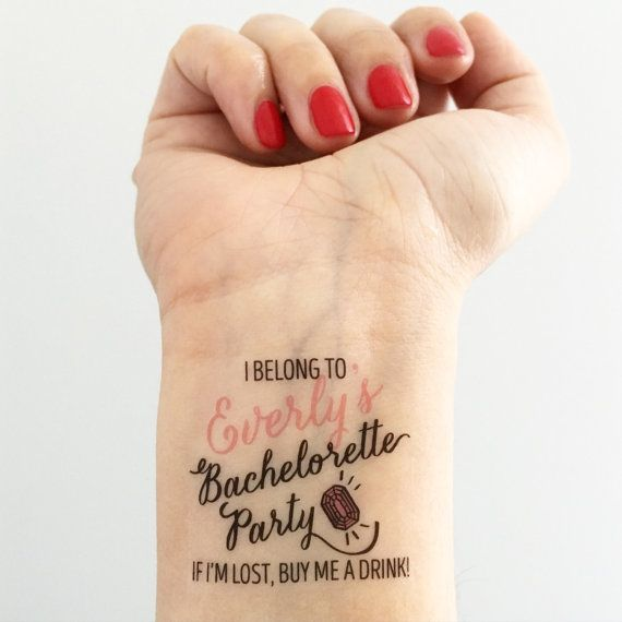 Please Read Instructions Before Ordering Custom Temporary Tattoos Personalized With The Brides
