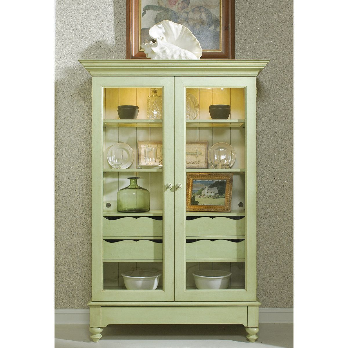 Fine furniture design summer home display cabinet dream home