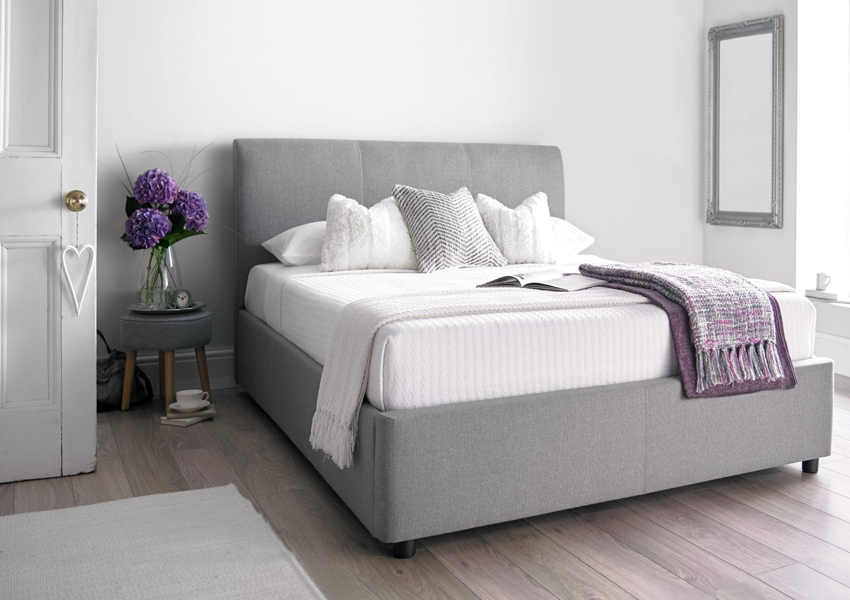 The Serenity Upholstered Ottoman Storage Bed is a brand new