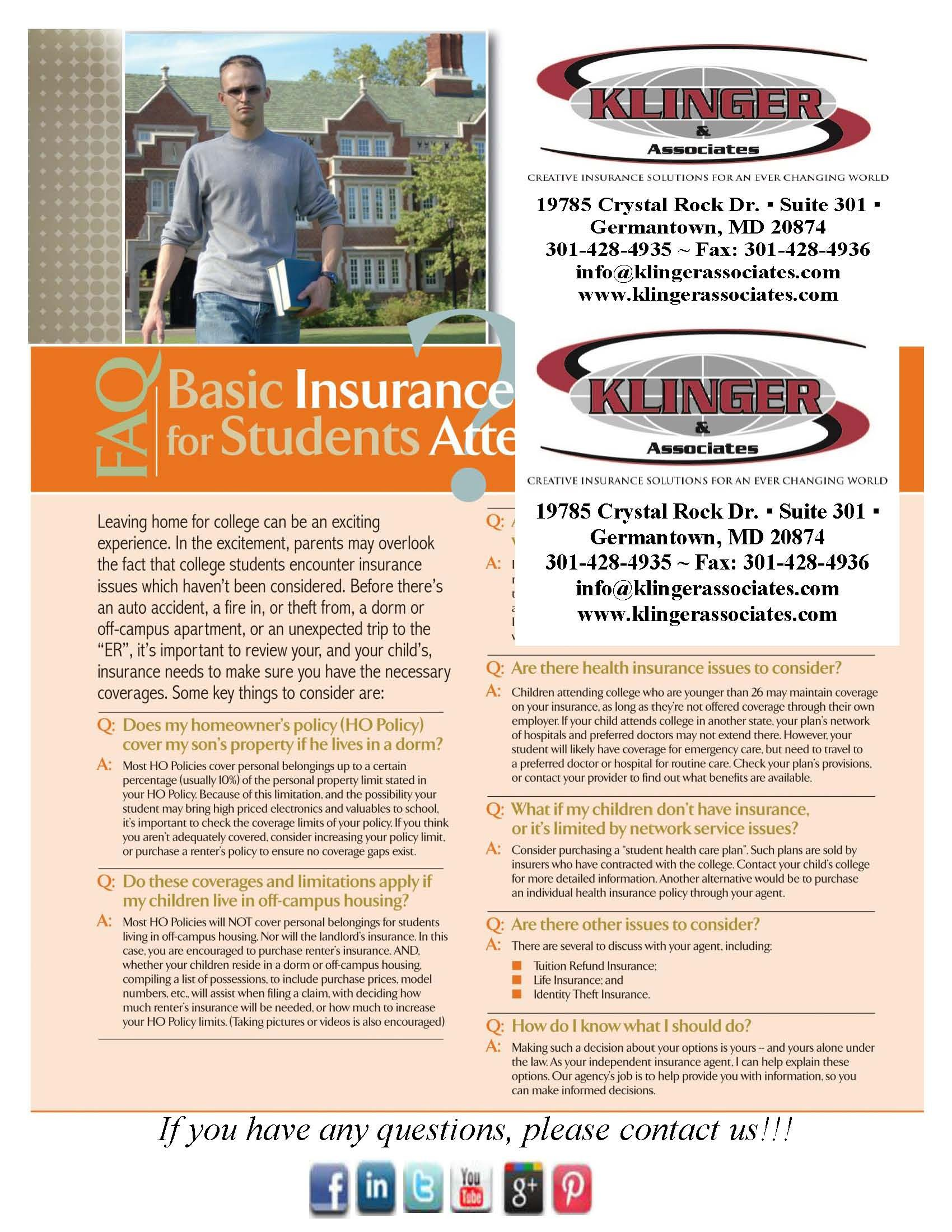 Basic Insurance 101 For College Students Insurance