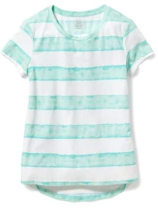 77bfdb135327b5 Relaxed Hi-Lo Scoop-Neck Tee for Girls