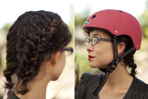 Helmet Friendly Hairdos For The Gal On The Go Hairstyle Hair Tutorial Hairdo