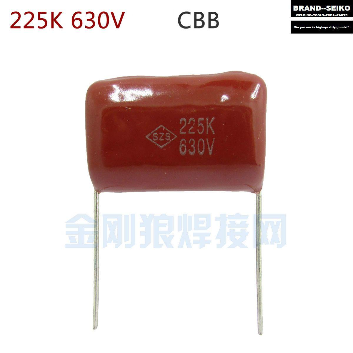 10pcs Lot 225 K 630 V Capacitor Cbb Capacitance Feet From 31 Mm Commonly Used Inverter Welding Machine Mainten Inverter Welding Machine Welding Machine Welding