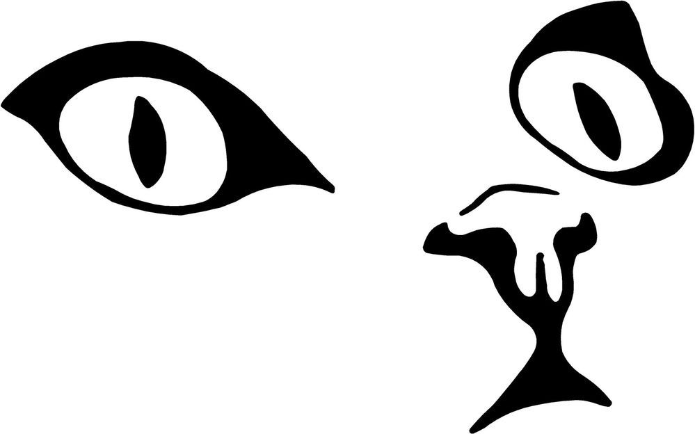 Cat Eyes Face Decal X Select Color Vinyl Sticker Cats - Vinyl decal cat pinterest