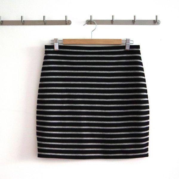 Einfachen Jerseyrock nähen | Nähanleitung und Schnittmuster #keinekleidungnähen