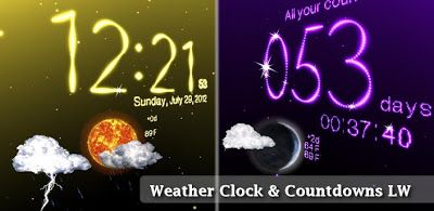 Weather Clock Live Wallpaper V222 Android Live Wallpaper