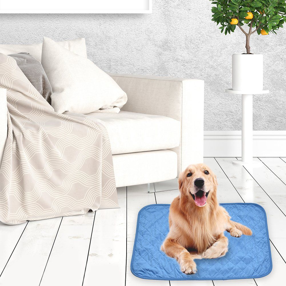 Per Pet Self Cooling Mat With Cold Fabric Pad Summer Cool