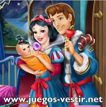 Juegos de vestir a blancanieves y su principe