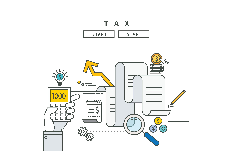 simple line flat design of tax  modern vector illustration