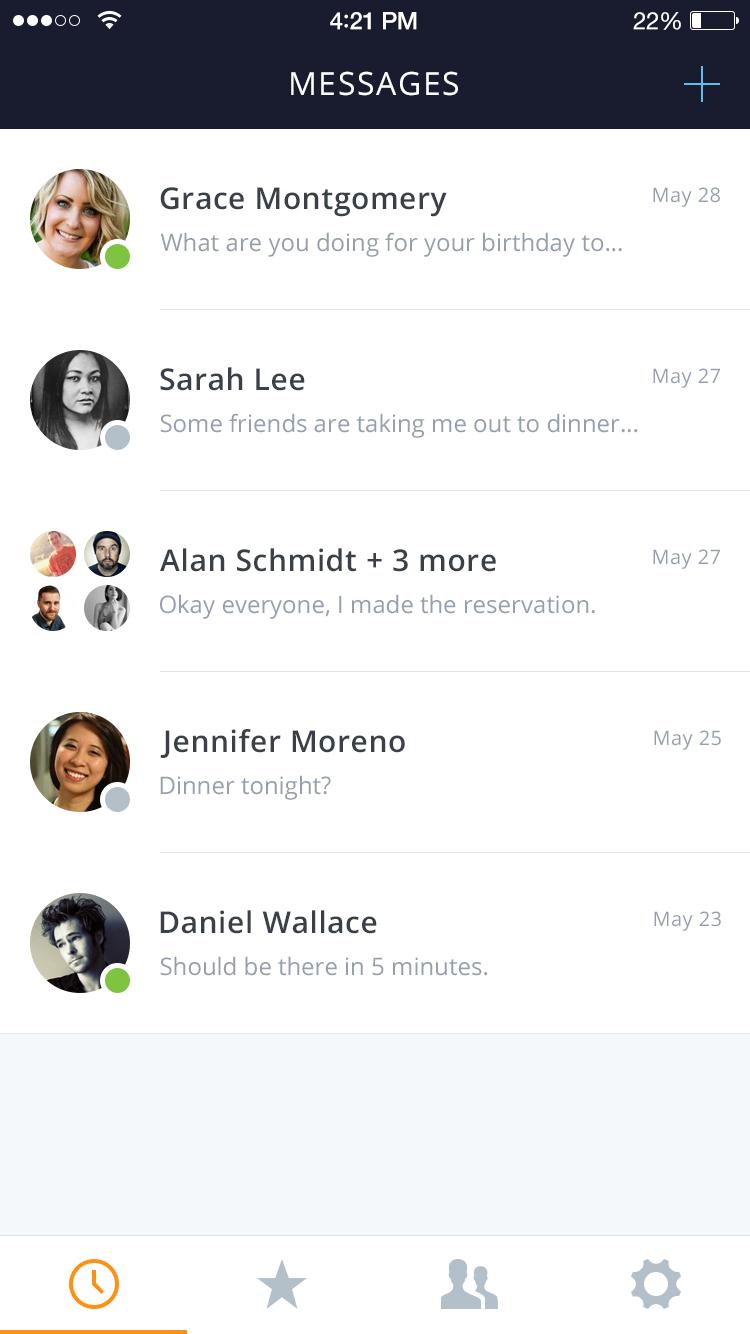 Messages Mood Board Design App Design