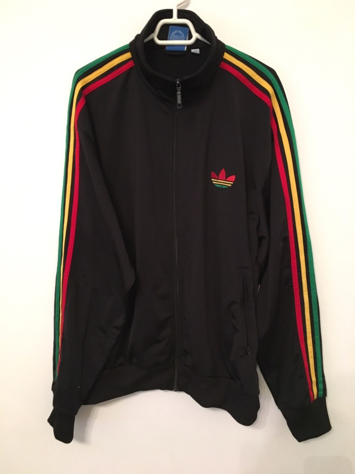 Adidas Originals Adi firebird Track Top Jacket Rasta Jamaica