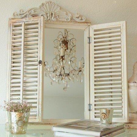Antyczne Lustro Z Okiennicami Shabby Vintage Mirror Wall Mirror Wall Decor Decor