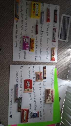 Father's Day candy card!!