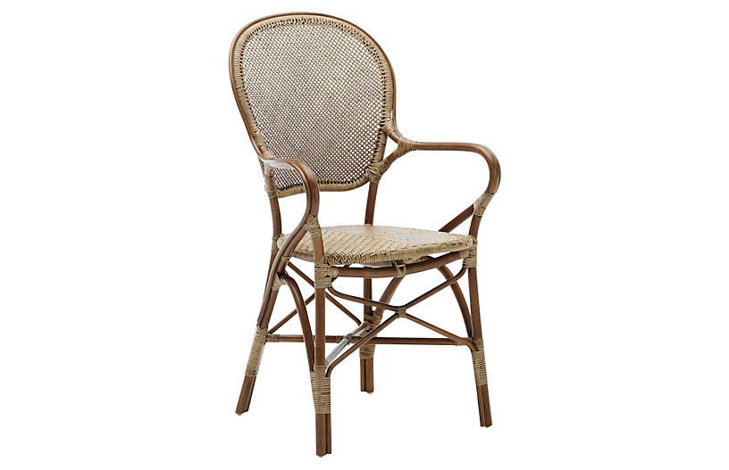 Rossini Indoor Bistro Armchair Brown Sika Design A S Rattan Chair Rattan Dining Chairs