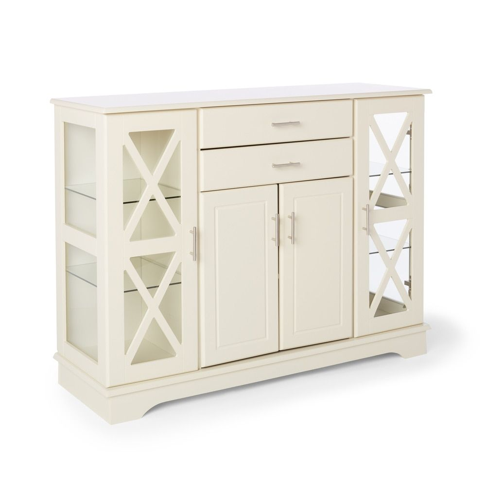 Best Simple Living Antique White Kendall Buffet Furniture 400 x 300