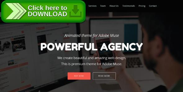 Free nulled Powerful Agency - Animated Adobe Muse Template download - new marketing agency blueprint free download