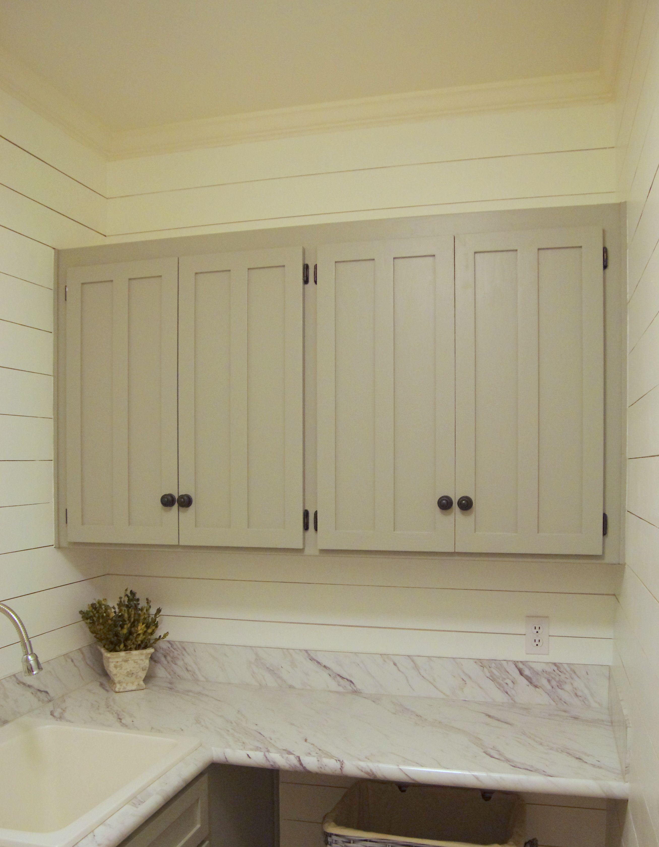 Superieur Farmhouse Laundry Room. Wilsonart Calcutta Marble Laminate From The Home  Depot. Shiplap.