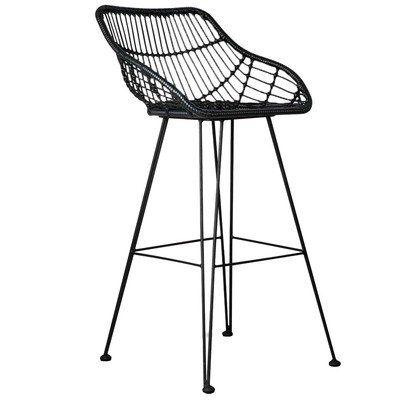 Downhill Faux Wicker Barstool in 2019 Chair inspiration