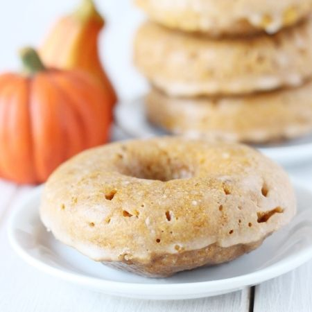 whole grain pumpkin donuts