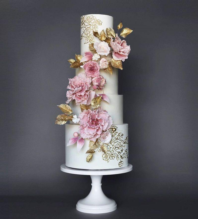 22 Beautiful wedding cakes to inspire you : Elegant wedding cake