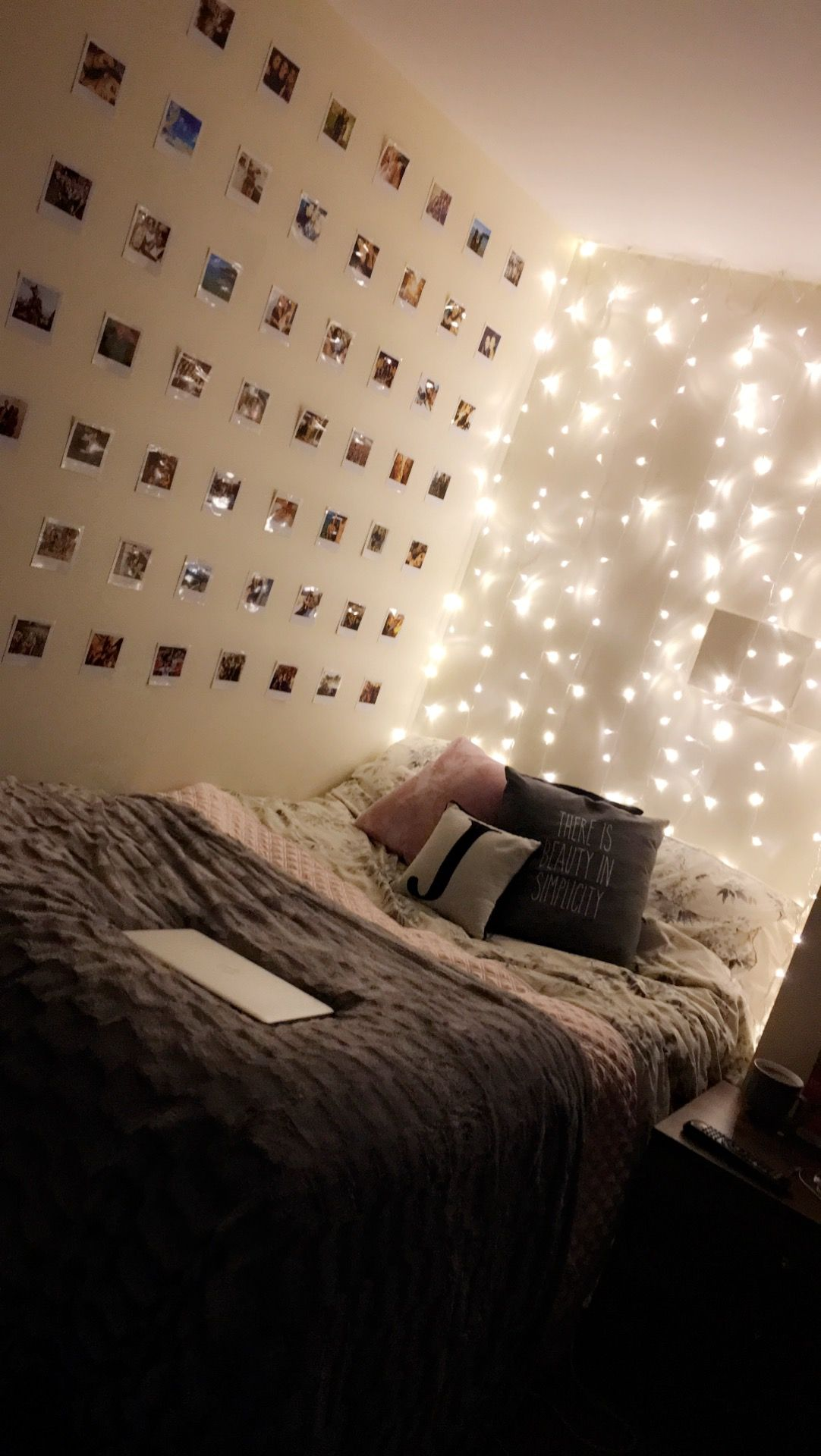 Polaroid Pictures And Fairy Lights Create The Perfect Atmosphere