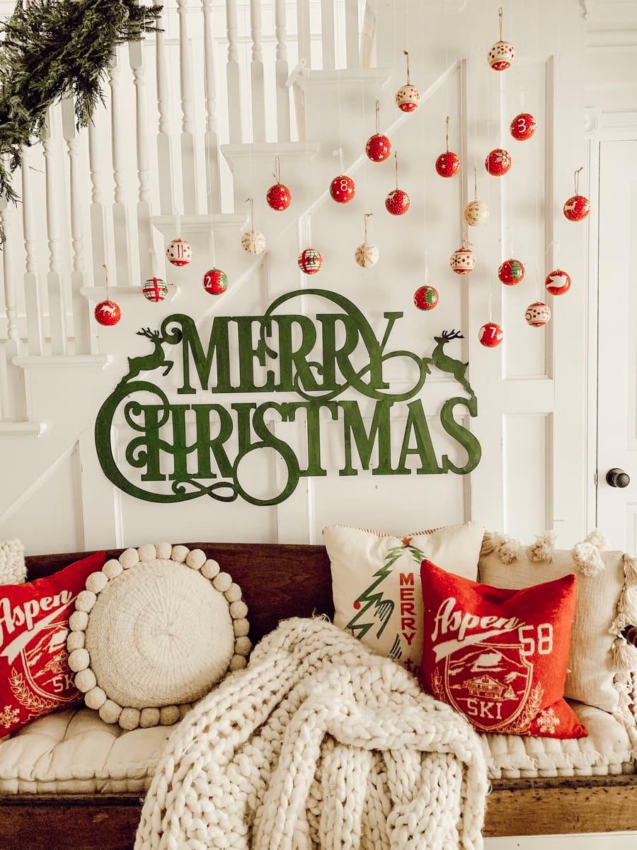 20++ Wall diy christmas decor ideas   LivingRoomReference
