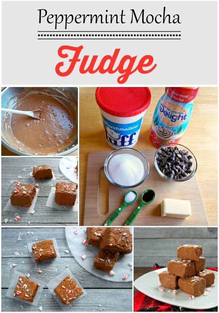 Peppermint Mocha Fudge Made With International Delight
