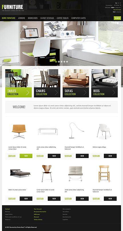 Template 41588 - Furniture Profile PrestaShop Theme | Interior ...