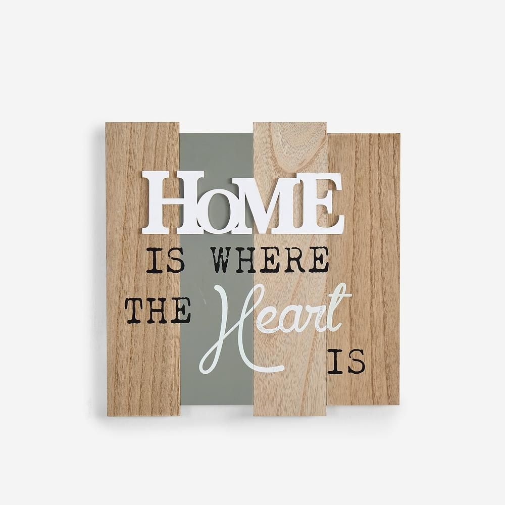 Inspirational home is where the heart wooden wall plaque sign white multi colored also danya  rh pinterest