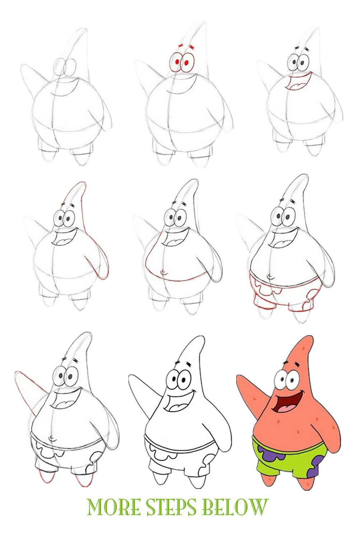 How to draw Patrick beautifully?