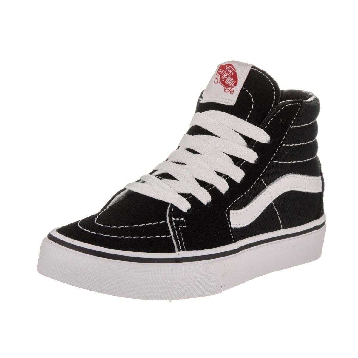84dfd2da8f Vans Kids  Sk8-Hi Black Suede Skate Shoes (11.5)
