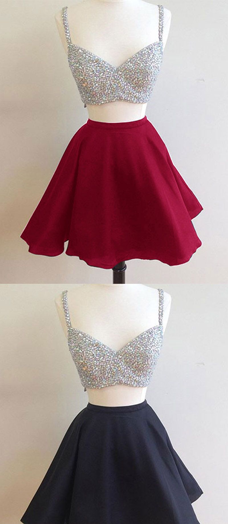 Short Prom Dresses with Beading Homecoming Party Gown Pieces with
