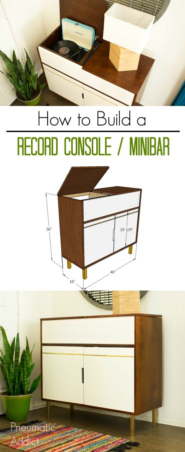 How to Build a Record Console / Minibar - Video Tutorial | Consoles ...