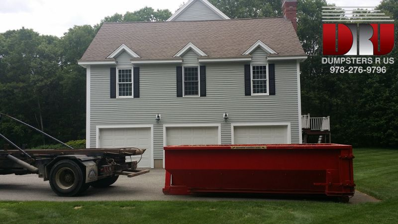 A Homeowner In North Andover Massachusetts Rented A 10 Yard Dumpster To Dispose Of Construction Debris Like D Dumpster Rental Master Bathroom Renovation Yard