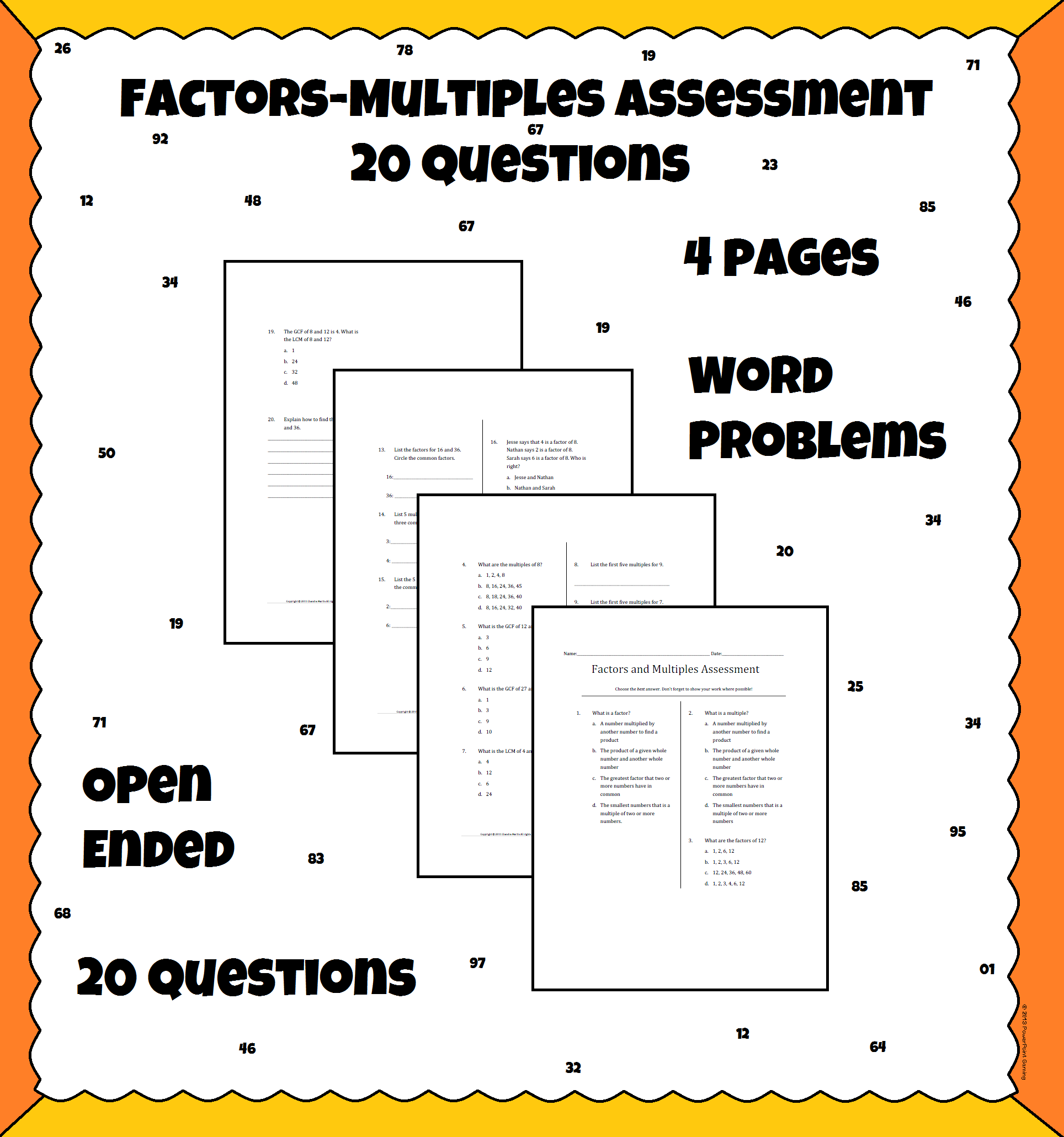 Factors And Multiples Quiz